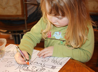 Child drawing, photo